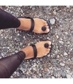 Gurus sorte bæredygtige sandaler