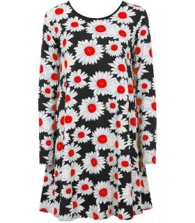 Babez London tunika med røde blomster