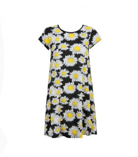 Babez London tunika med gule blomster