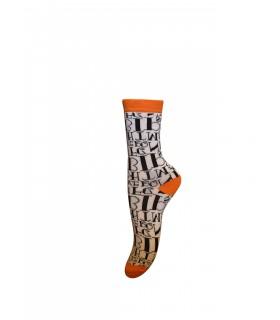 Maybee orange strømper