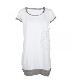 Uldahl langen, weißen t-shirt