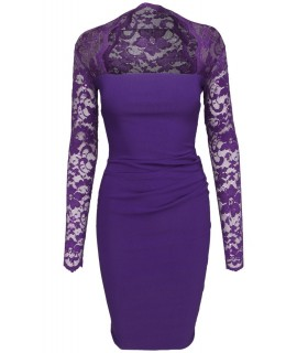 Goddess - Lilac dress with lace