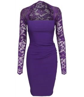 Goddess - Lila Kleid mit Spitze