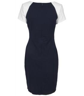 Goddess navy kontrast kjole