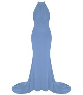 Goddess - lang halterneck kjole