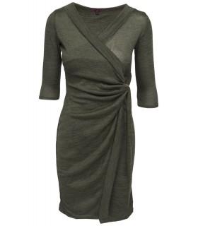 Missi - Grøn wrap kjole