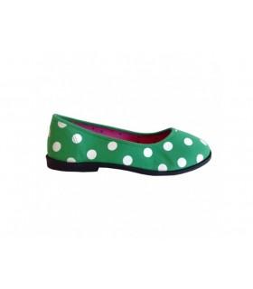 SHOESHOE grønne ballarina med prikker
