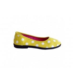 SHOESHOE gule ballarina med prikker