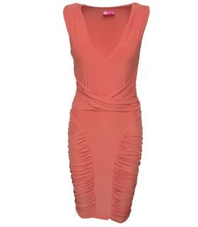 Goddess orange kjole