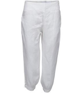 120% lino hvide bukser