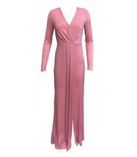 Lucy Wang pink glimmerkleid