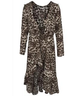 Vera & Lucy leopard-print-Kleid