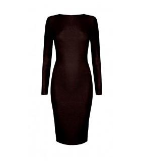 Goddess sort kjole med lynlås