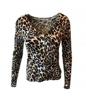 Paris Fashion C. M. P 55 leopard leichte Strickjacke
