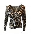Paris Fashion C.M.P 55 leopard lys cardigan