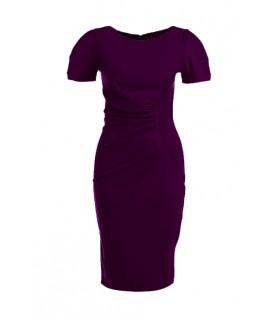Göttin purple midi-Kleid