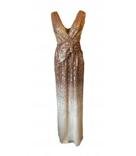 Göttin gold-Kleid mit Gürtel