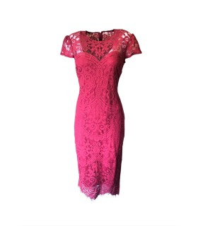 Goddess red sheath midi dress