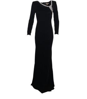 Paris Fashion Soky & Soka black velourkjole with detail