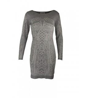 Paris Fashion Alina Fashion grå kort kjole