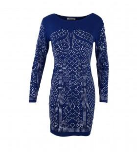 Paris Fashion Alina Fashion kort blå kjole