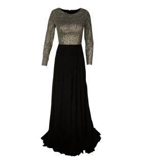 Paris Fashion F&P sølv/sort kjole