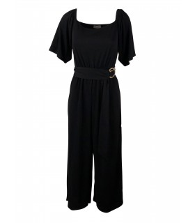 Goddess black culottes jumpsuit