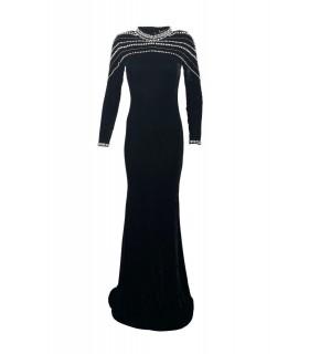 Black Striksæt med nederdel  Paris Fashion  Kjoler