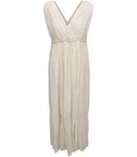 Mes Demoiselles long beige dress