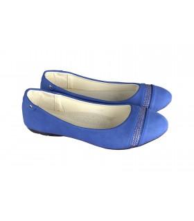 Blue ballarina with stone