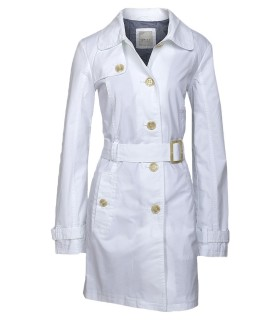 White Esprit trenchcoat
