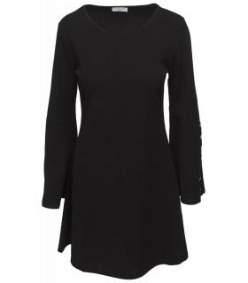 Goddess sort kjole med vidde i ærmerne