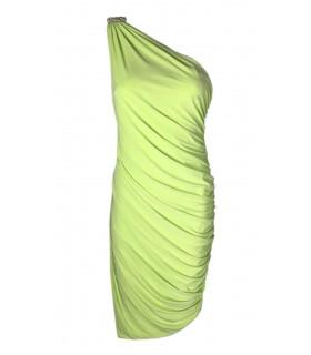 Goddess oneshoulder dress lime