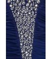 Goddess blå stropløs kjole med diamanter
