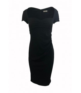 Goddess Stephanie Pratt black midi dress