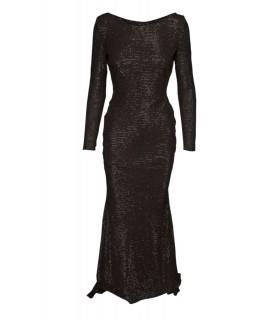 Goddess Stephanie Pratt black dress without back