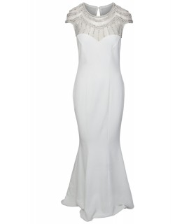 Goddes white prom dress with beads and stones