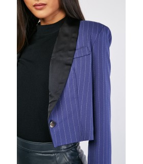 Gdgactuel short blue suit jacket