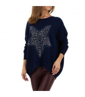 Paris Fashion blå bluse med stjerne