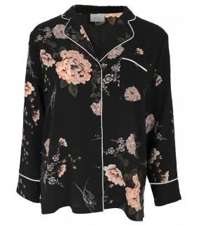 Neo Noir Pam flower shirt