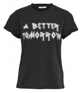 Gestuz-Aura-ss t-shirt top-schwarz
