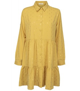 Paris Fashion Big Liuli short yellow dress