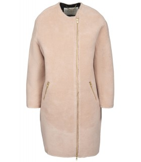 Notes you North Dawn pink oversize uldjakke