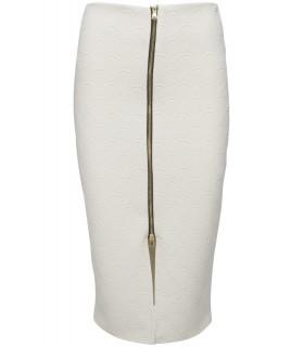 Hvid vendbar nederdel
