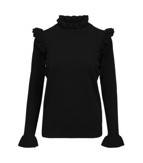 Notes du Nord Dahlia blouse black knit blouse