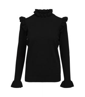 Notes du Nord Dahlia Bluse black knit Bluse