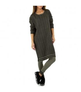 JCL striksæt med mønstret kjole khaki