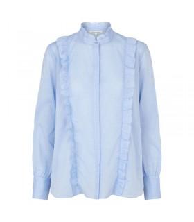 Second Female wild shirt blå skjorte