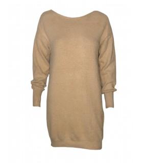 Unigirl taupe lysbrun bluse med sløjfer