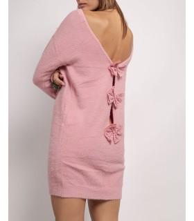 Unigirl lyserød bluse med sløjfer